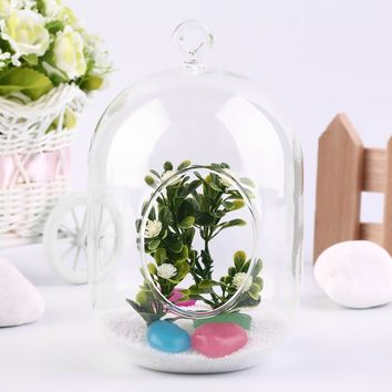 Glass Vase Hanging Terrarium Plant Landscape Home Decor
