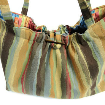Knitting Project Bag Striped Knitting Tote Organizer