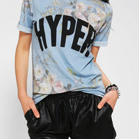 Urban Outfitters - Blackstone Hyper Floral Roll Cuff Tee