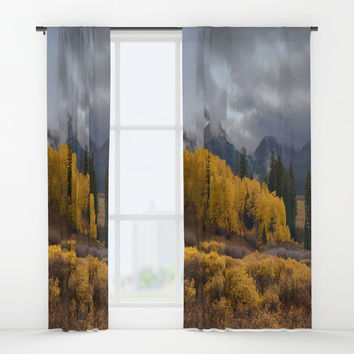 Colorado Fall Colors 2 Window Curtains by Lena Owens/OLenaArt