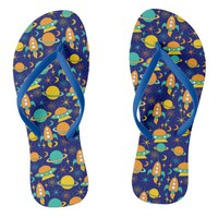 Nifty fifties - space age flip flops dark