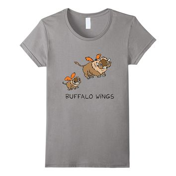 Buffalo Wings Cute Animals Food Hot Spicy Zoo Awesome Tee