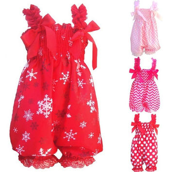 Newborn Infant Baby Girl Petti Ruffle Rompers Dress One-Piece Tutu Lace Clothes 6-12M = 1958034116
