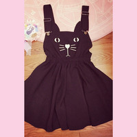Kawaii HarajukuCat Suspender Skirt