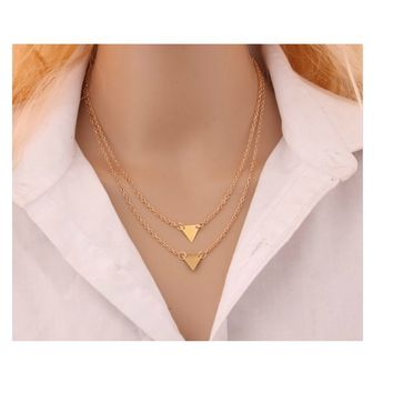 Women's Hammer Chain Long Strip Pendant Necklace