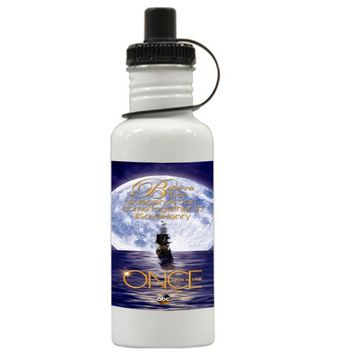 Gift Water Bottles | Once Upon Time Captain Hook Emma Swan Aluminum Water Bottles