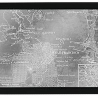 San Francisco Map Mirror (1219) - Illuminada