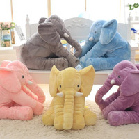 Large Plush Elephant Toy, Plush Soft Toy Stuffed Animal Elephant Pillow For Baby & Kids Sleeping Toys For Childre Baby Calm Doll