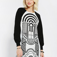 Ad Hoc Long-Sleeve Geo Tee Dress - Urban Outfitters
