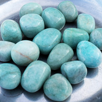 AMAZONITE Warrior Goddess Stone - Inner Goddess Female Warrior, Tumbled Amazonite