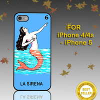 Loteria La Sirena - Photo on Hard Cover - For iPhone Case ( Select An Option )