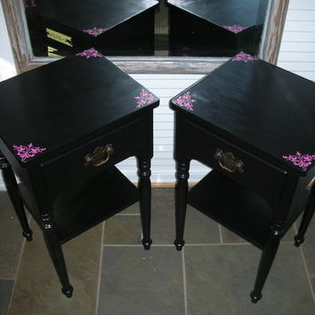 Set of Two 1976 Ethan Allen Outrageous Nightstands