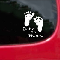 Baby On Board Feet Sticker Decal 20 Colors To Choose From.