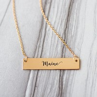Maine Gold / Silver Bar Necklace
