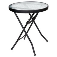 Round Glass-Top Folding Side Tables at Deals