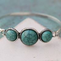 Turquoise Layering Bangle Bracelet from Tinley Rose Accessories
