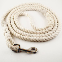 Rope Dog Leash - Cotton - Natural Coloring - No Dye