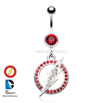 The Flash Sparkle Belly Button Ring