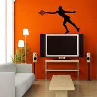 Housewares Wall Vinyl Decal Any Room Sport Tennis Player Girl Mural Sticker V122