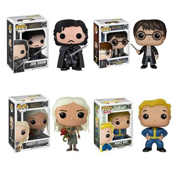 Funko Pop Super Hero The Avenger Deadpool Fallout Game of Thrones Action Figure Walking Dead Toy Doll Harry Poter