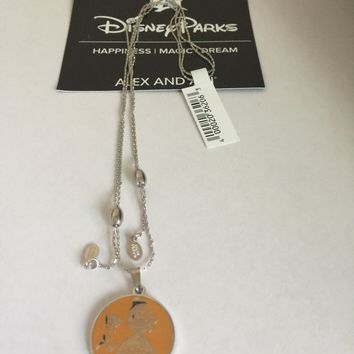 Disney Parks Belle Find True Beauty Within Necklace Alex Ani Silver New with Tag
