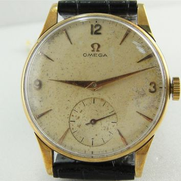 Authentic Omega Solid 14K Gold Cal: 30T2 Manual Winding Watch