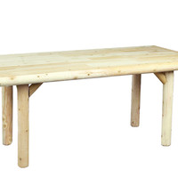 Rustic Natural Cedar 200221 Solid Top Dining Table