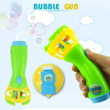 2017 New Summer Funny Magic Bubble Blower Machine Bubble Maker Mini Fan Kids Outdoor Toys for girls boys children
