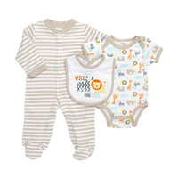 Baby Gear 3-pc. Wild & Cute Bodysuit & Sleeper Set – Baby 0-6 Mos. | Stage Stores