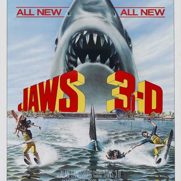 Jaws 3-D 11x17 Movie Poster (1983)