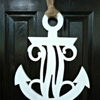 Monogrammed Anchor Door Decor
