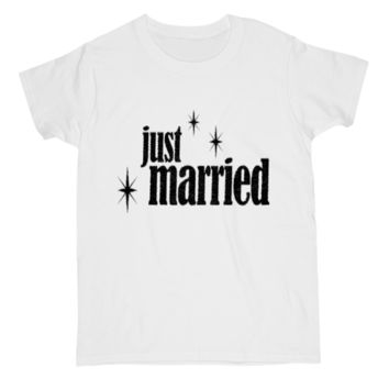 Just Married T Shirt for Women