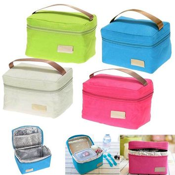 Travel Oxford Tinfoil Insulated Cooler Thermal Picnic Lunch Bag Waterproof Tote Lunch Bag for Kids Adult LXX9