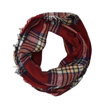 Classic Plaid & Check Infinity Scarf