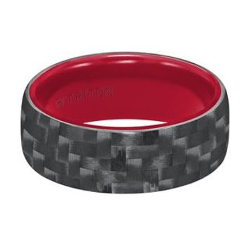 Triton TungstenAIR™ Men's Black & Red Carbon Fiber Band, 9MM - Tungsten - Bands - Wedding - Helzberg Diamonds