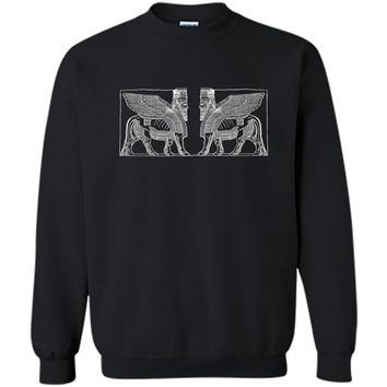 Anunnaki Ancient Alien Guardian  Printed Crewneck Pullover Sweatshirt