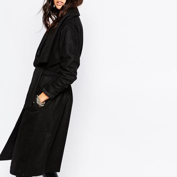 Noisy May Penny Wool-Mix Trench Coat