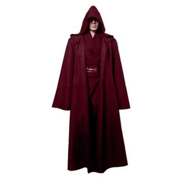 Darth Vader Cosplay Clothes Terry Jedi Black Robe Star Wars Jedi Knight Hoodie Cloak Halloween Cosplay Costume Cape For Adult