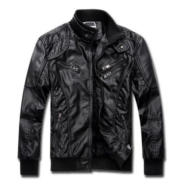 Smoke Leather Jacket with Fur Lining