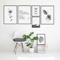 Nordic Style Canvas Art Print Painting Poster, Butterfly Wall Pictures for Home Decoration, Wall Decor BW006