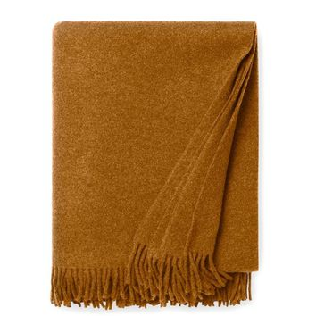 Vimmo Curry Wool Throw
