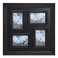 Melannco 4-Opening Distressed Black Collage Frame