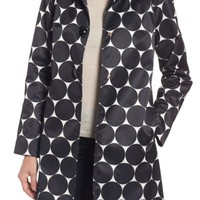 kate spade new york dot print raincoat | Nordstrom