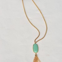 Long Pendant Necklace Tassel-Gold-$28.00 | Hand In Pocket Boutique