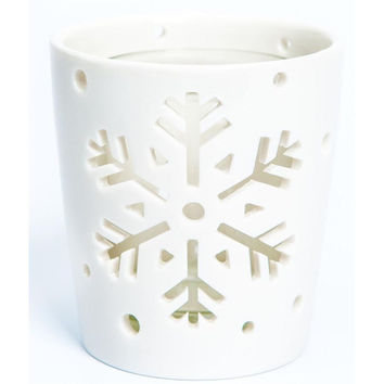 Small snowflake votive holder by Yankee Candle Co.