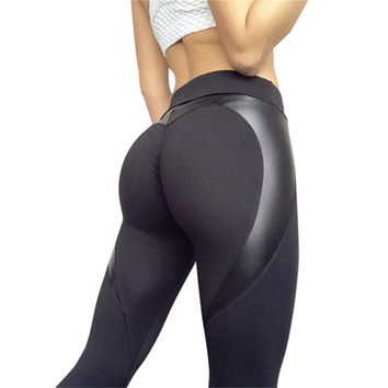 Women PUSH UP Sport Leggings Yoga Pants Black High Waist Elastic Running FREE SHIPPING