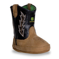 John Deere Crib Wellington Tan Crazy Horse And Black Boot