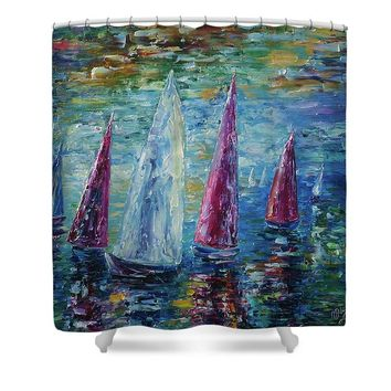 Sails To-night - Shower Curtain