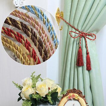 New Fasion Beautiful Rope Tassel Window Curtain Fringe Tiebacks Tie Holder Decorative Room Decor Color
