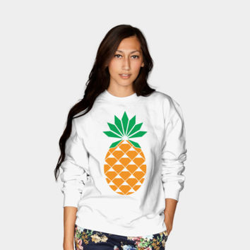Diamond Pineapple Crewneck By Messing Design By Humans